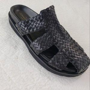 Donald J. Pliner SPAIN Woven Leather Sandals Slide